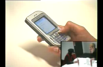 picture of cellphone and a usability test