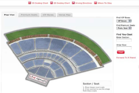 website seating chart