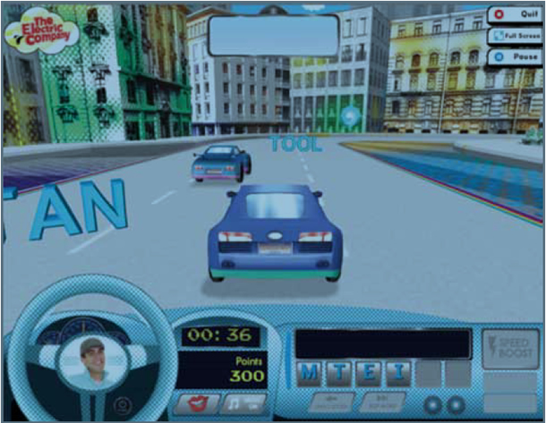 screencap from Electric Racer game