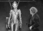 Robot from a sci-fi film