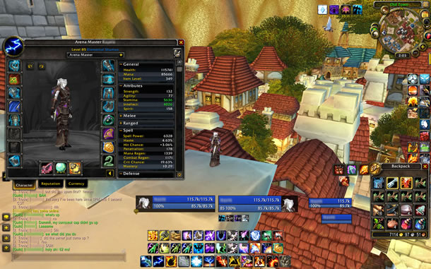 screencap from videogame interface