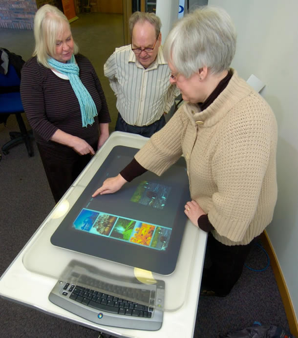 older adults using a touch screen