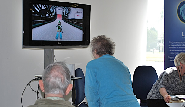 Older adults using a Wii Sports
