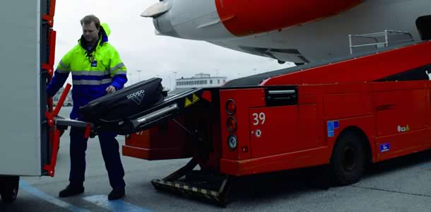 RampMate automated baggage handling device