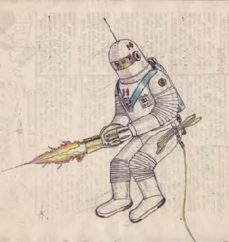 Astronaut with a weapon