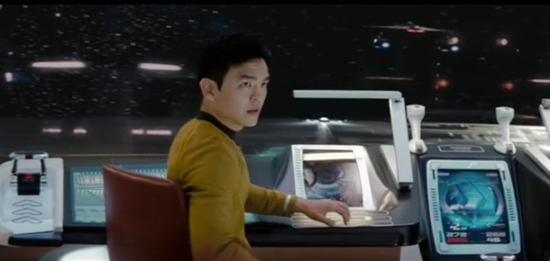 Sulu at the controls