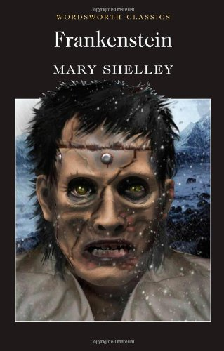 Book cover: Frankenstein by Mary Shelley