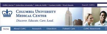Banner for Columbia University site