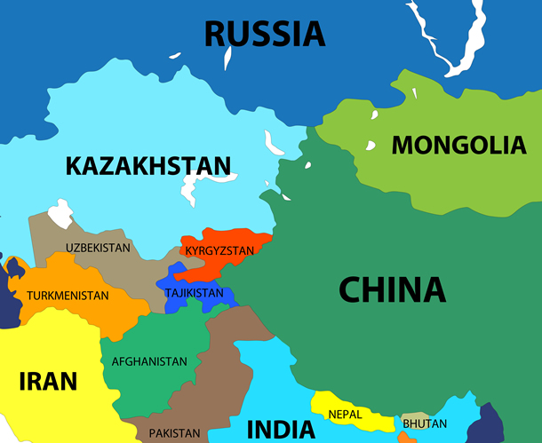 Map showing Kyrgyzstan