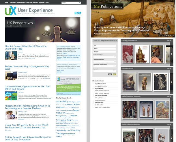 Two screen images.