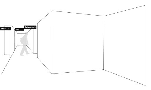 drawing of hallway layout