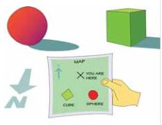 sphere, square, map