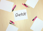 Sketchpads on table