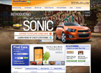 Screenshot of ad takeover.