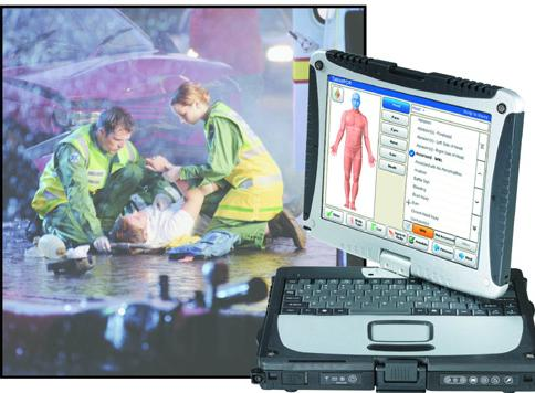 the interface and paramedics using it