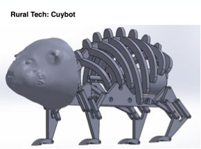 A 3D model showing the structure of the robot's shape.