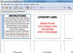 Screenshot of the instructions and the slide sorter
