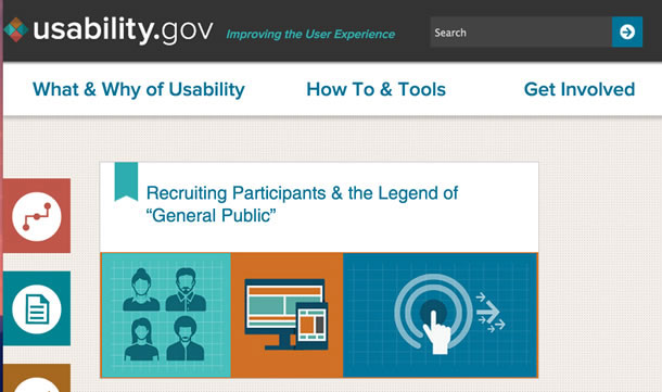 Screen shot from usability.gov showing the blog link.