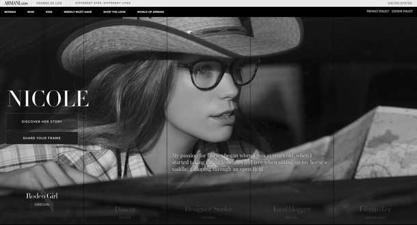Nicole: Rodeo Girl. A photo of a woman in a western hat, wearing designer glasses frames.