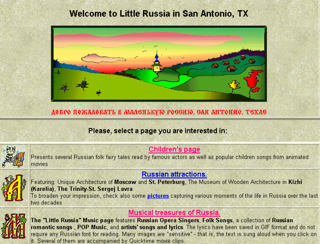 The main page for Little Russia in San Antonio Texas