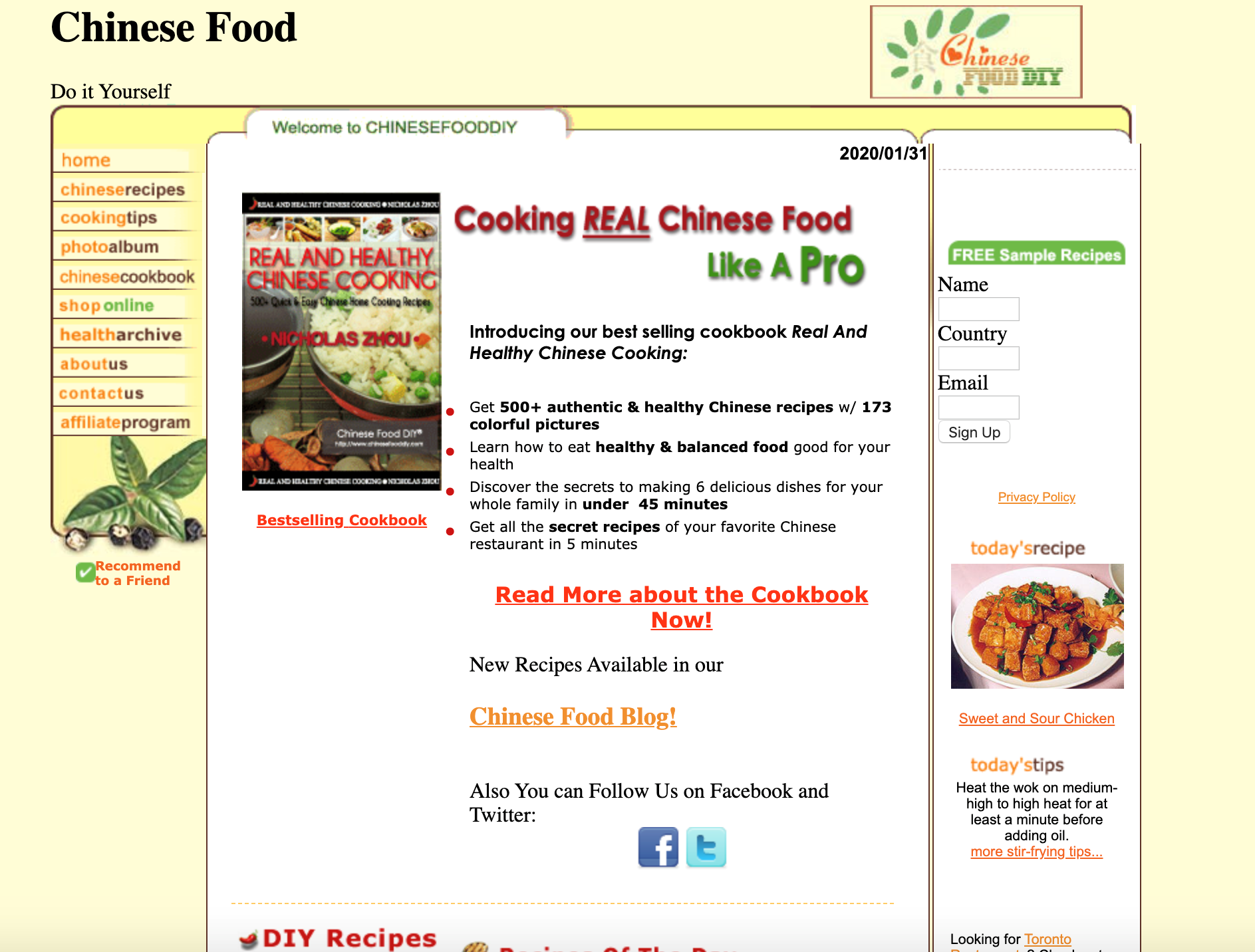 Screenshot of a webpage showing a Chinese cookbook description.
